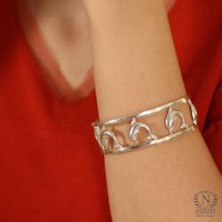 925 Ayar Gümüş Yunus'lu Bilezik - Thumbnail