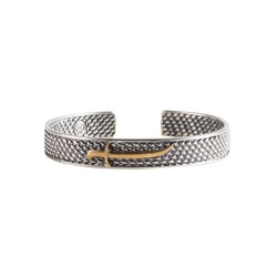 925 Ayar Gümüş Zülfikar Model Erkek Bileziği - Thumbnail