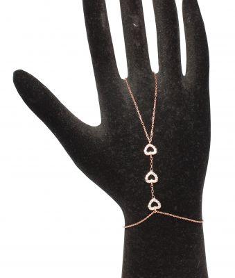 925 Ayar Rose Gümüş Kalp Modeli Şahmeran