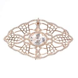 925 Ayar Rose Gümüş Örümcek Ağı Motifli Broş - Thumbnail