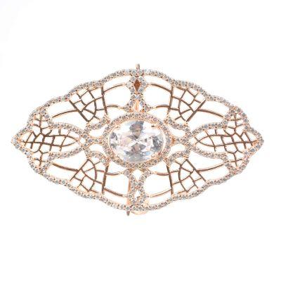 925 Ayar Rose Gümüş Örümcek Ağı Motifli Broş