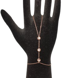 925 Ayar Rose Gümüş Taşlı Şahmeran - Thumbnail