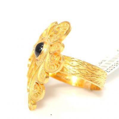 22 Ayar Altın Safir Taşlı Antik Yüzük