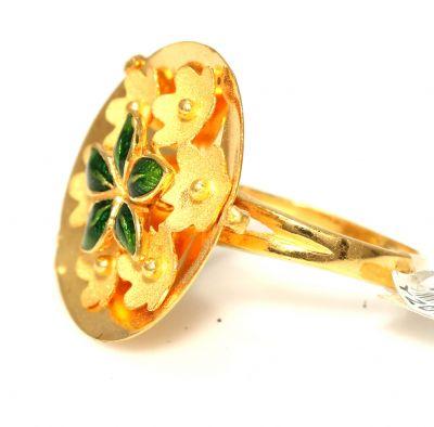22 Ayar Altın Çanaklı Papatya Çiçek Model Yüzük