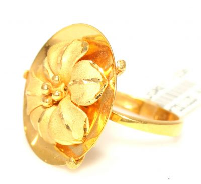 22 Ayar Altın Çanaklı Çiçek Model Yüzük