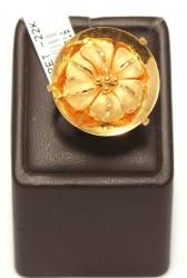 22 Ayar Altın Çanaklı Çiçek Model Yüzük - Thumbnail