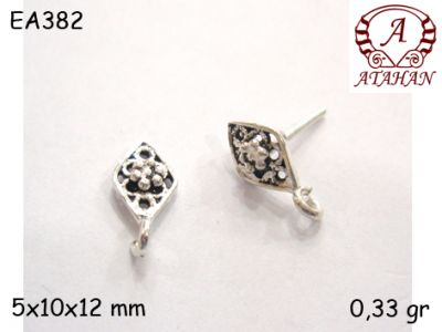 Gümüş Küpe Malzemesi - EA382