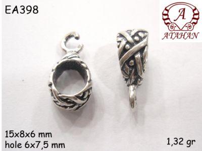 Gümüş Küpe Malzemesi - EA398