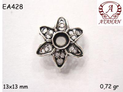 Gümüş Küpe Malzemesi - EA428
