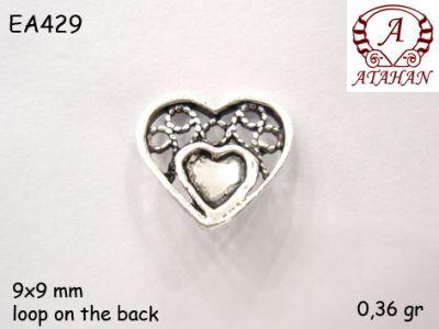 Gümüş Küpe Malzemesi - EA429