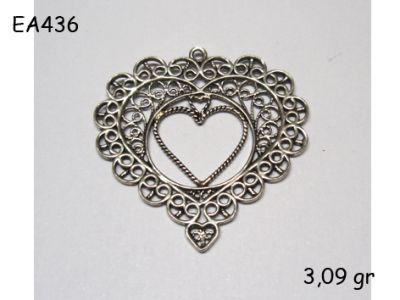 Gümüş Küpe Malzemesi - EA436