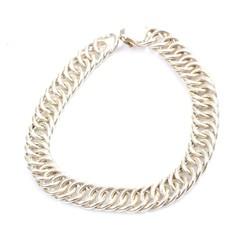 925 Ayar Gümüş Zincir Bileklik - Thumbnail