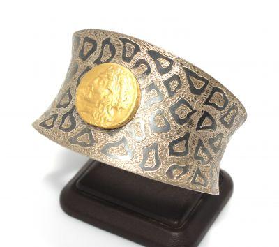 24 Ayar Altın Gümüş İç Bükey Astar Bilezik