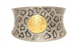 24 Ayar Altın Gümüş İç Bükey Astar Bilezik - Thumbnail