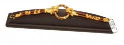 24 Ayar Altın Halka Model Deri Bileklik - Thumbnail