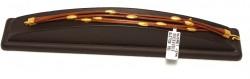 24 Ayar Altın Kahverengi Deri Bileklik - Thumbnail