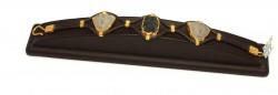 24 Ayar Altın Seramik Taşlı Antik Deri Bileklik - Thumbnail