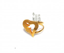 22 Ayar Altın Kalp Model Yüzük - Thumbnail