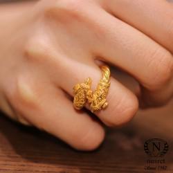 22 Ayar Altın Burma Koç Yüzük - Thumbnail