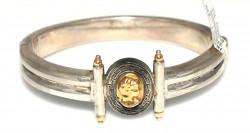 22 Ayar Altın ve Gümüş Elizabeth Desenli Bilezik - Thumbnail