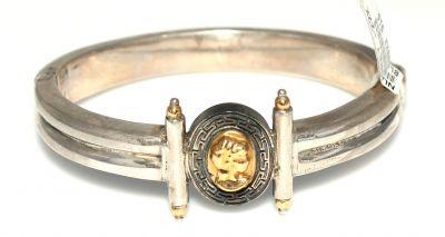 22 Ayar Altın ve Gümüş Elizabeth Desenli Bilezik