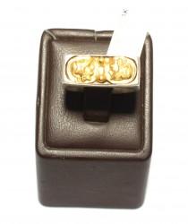 24 Ayar Altın ve 925 Ayar Gümüş Resimli Yüzük - Thumbnail