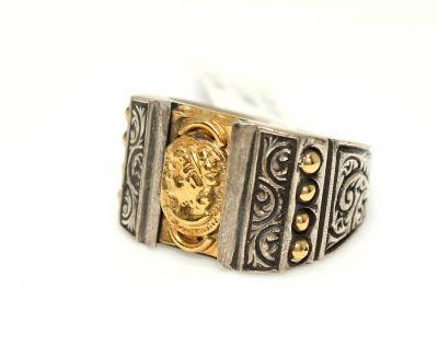 24 Ayar Altın Gümüş Elizabeth Yüzüğü