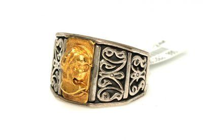 24 Ayar Altın Gümüş Elizabeth Yüzük