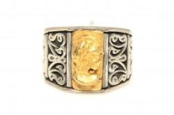24 Ayar Altın Gümüş Elizabeth Yüzük - Thumbnail