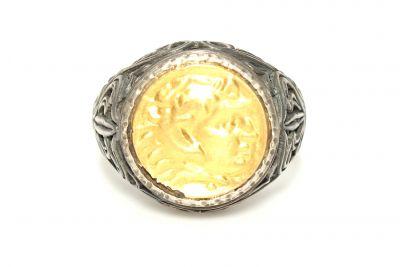 24 Ayar Altın & Gümüş Resimli Yüzük