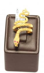 Yılan Model 22 Ayar Altın Yüzük - Thumbnail